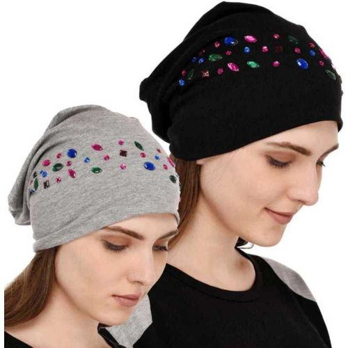 Stylebond Combo Studded jersey party wear Cap(Pack of 2)