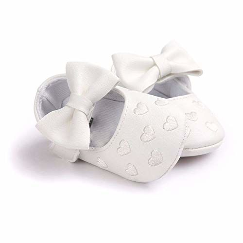 Bold N Elegant - Be Bold Inside & Elegant Outside Bold N Elegant PU Leather Bow Heart Baby Girl Birthday Moccasin Bootie Shoes Footwear for Infant Toddler Girls