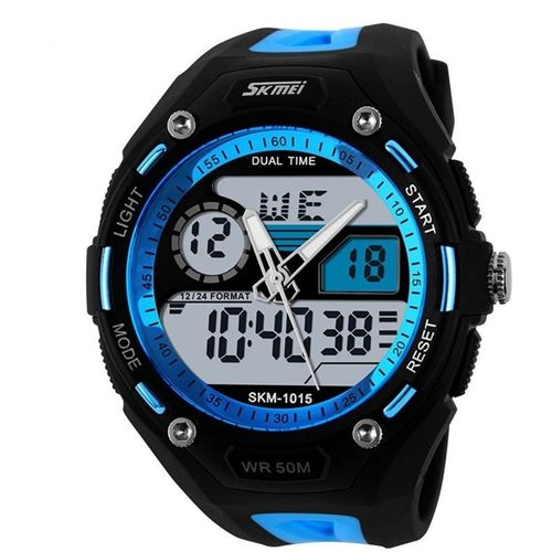 Skmei Dual Time Multi-Funcitonal Analog Digital Wrist Watch Analog-Digital Watch - For Men