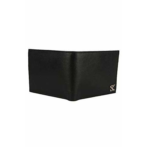 Styler King Boys Black Genuine Leather Wallet(6 Card Slots)