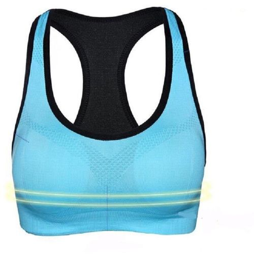Comfort Layer Women Sports Lightly Padded Bra(Blue, Black)