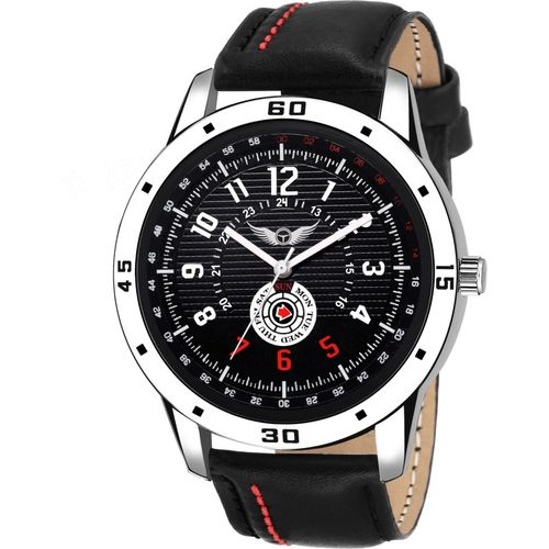 Lois Caron LCS-4205 BLACK DIAL WATCH FOR BOYS Analog Watch - For Men