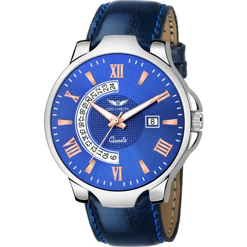 Lois Caron LCS-8132 BLUE DIAL DATE FUNCTIONING FOR BOYS Analog Watch - For Men