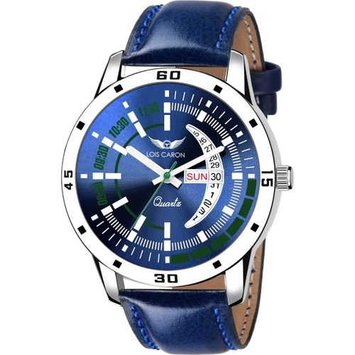 Lois Caron LCS-8156 BLUE DIAL DAY & DATE FUNCTIONING WATCH FOR BOYS Analog Watch - For Men
