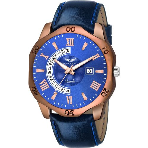 Lois Caron LCS-8129 BLUE DIAL DATE FUNCTIONING FOR BOYS Analog Watch - For Men