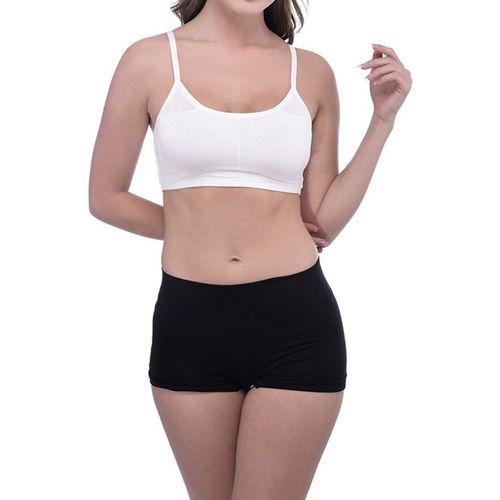 V Brown 6 Straps Padded Bralette Women Sports Lightly Padded Bra(White)