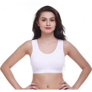 Flosum Women Sports Non Padded Bra(White)