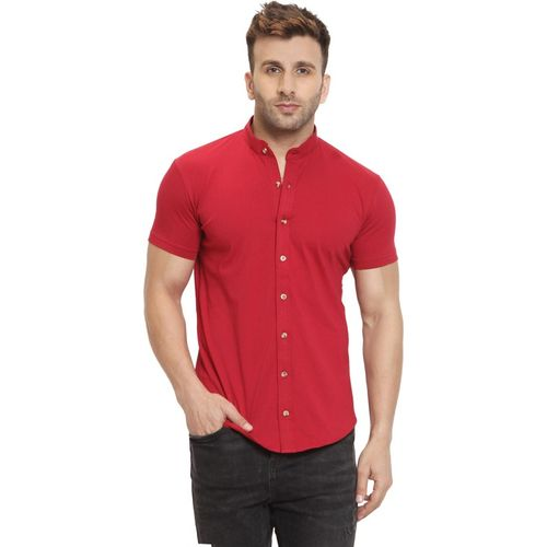 GESPO Men Solid Casual Red Shirt