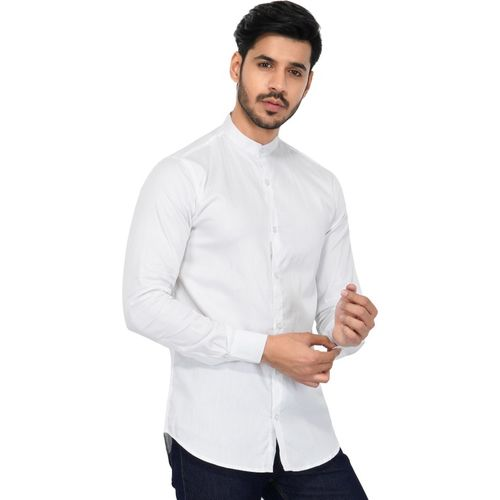 U TURN Men Solid Party White Shirt