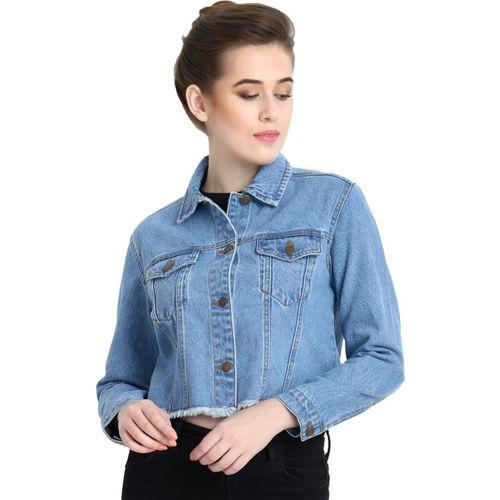 Kotty Full Sleeve Solid Women Denim Jacket