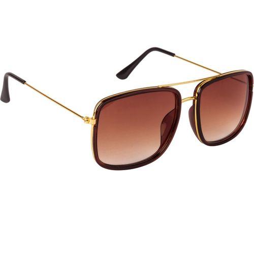 bArrett Retro Square Sunglasses(Brown)