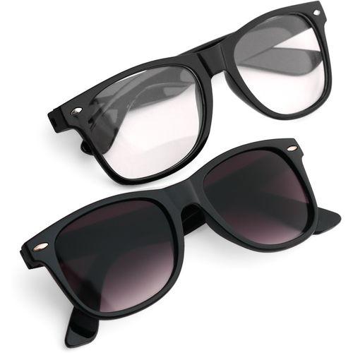 Royal Son Wayfarer Sunglasses(Black, Clear)