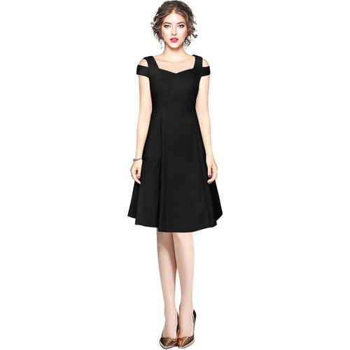 Dream Beauty Fashion Women Fit and Flare Black Dress