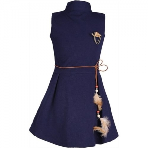 DELHIITE Women A-line Dark Blue Dress