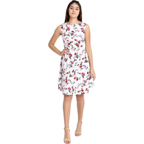 BUDHIRAJA COLLECTION Women Fit and Flare White Dress
