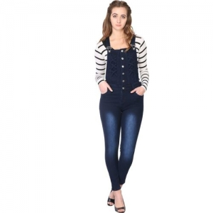 SIJON Women Dark Blue Dungaree