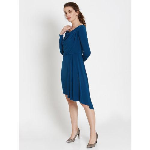 Vero Moda Women Solid Blue Sheath Dress