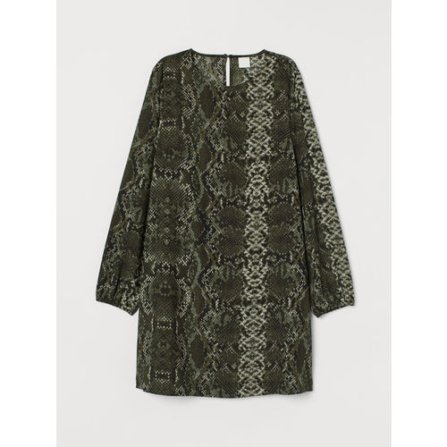 H&M Women Black & Green Wide Dress