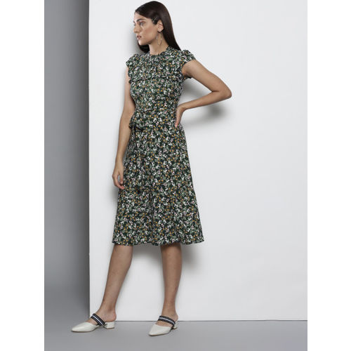 DOROTHY PERKINS Women Green Printed A-Line Dress
