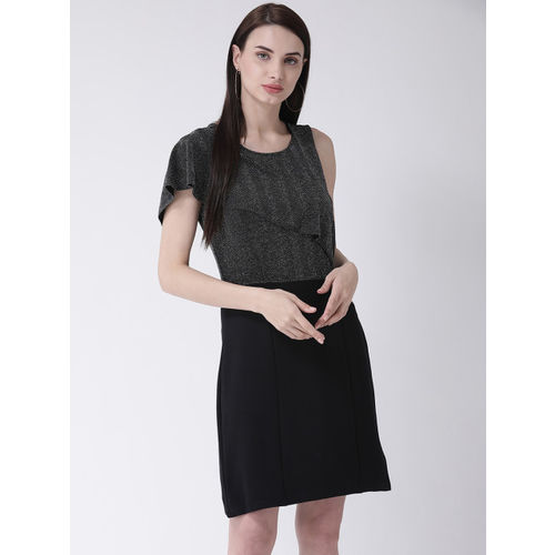 Latin Quarters Women Black Solid Fit and Flare Dress