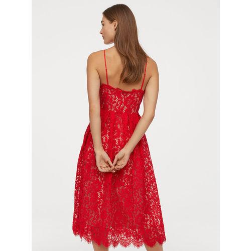 H&M Women Red Lace Dress