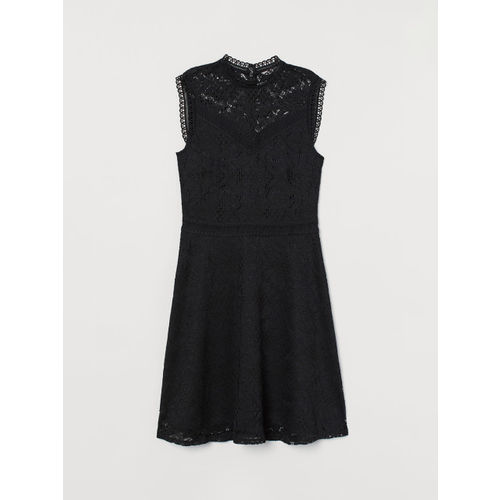 H&M Women Black Lace Dress