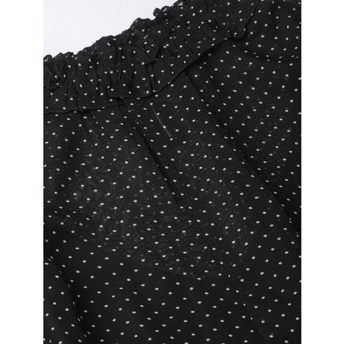 MISH Women Black & White Printed A-Line Dress