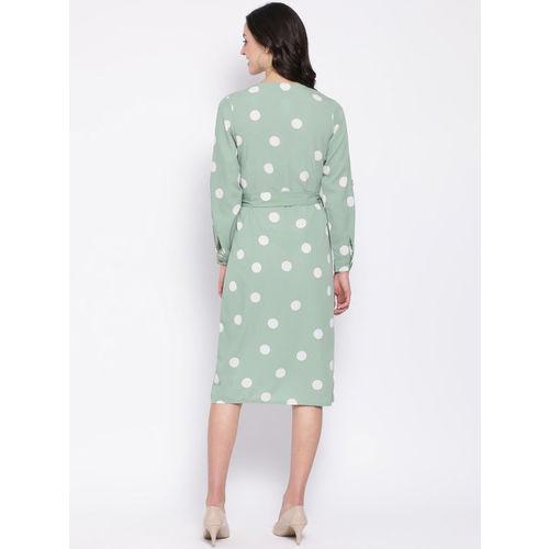 Oxolloxo Women Green Printed Shirt Dress