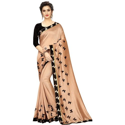 Hensi sarees shop Self Design Daily Wear Linen Blend, Jute Blend Saree(Cream)