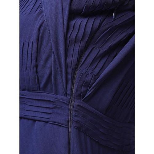 MISH Women Navy Blue Solid Maxi Dress