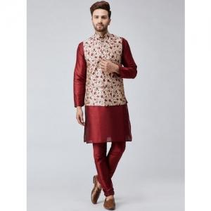 BENSTOKE Men Ethnic Jacket and Pyjama Set