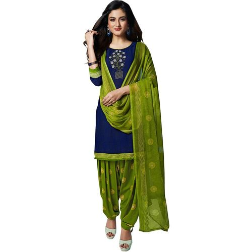 DIVI Crepe Printed Salwar Suit Material(Unstitched)
