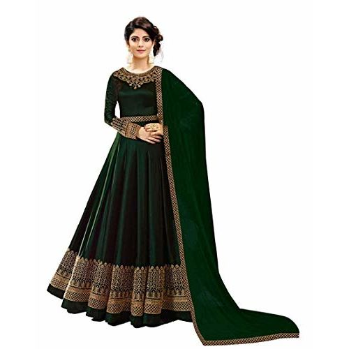 Vaidehi Fashion Faux Georgette Embroidered Salwar Suit Material(Semi Stitched)