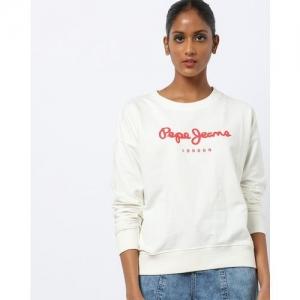 Pepe Jeans Typographic Print Round-Neck Sweatshirt