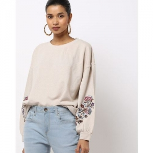 UNITED COLORS OF BENETTON Crew-Neck Sweatshirt with Embroidery
