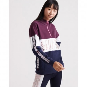 SUPERDRY Sport City Colourblock Sweatshirt with Typography