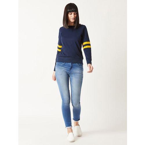MISS CHASE Solid Sweatshirt