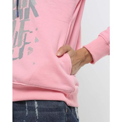 Fort Collins Typographic Print Hoodie with Insert Pockets