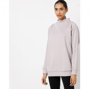 Reebok Panelled High-Neck Longline Sweatshirt