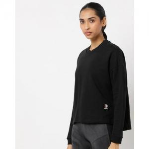 Reebok Classic High-Low Sweatshirt with Drop-Shoulders