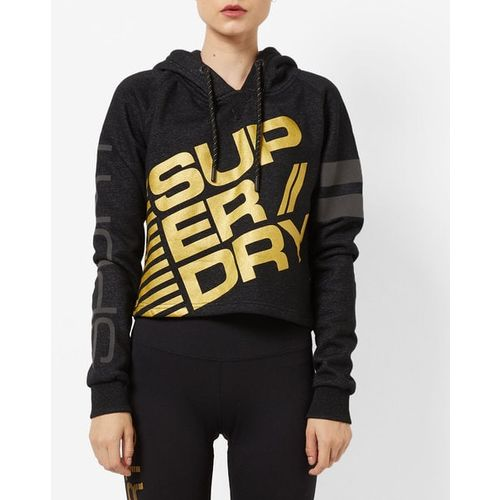 SUPERDRY Typographic Print Hoodie with Drawstring Fastening