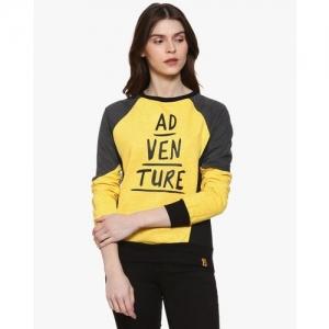 Campus Sutra Typographic Sweatshirt