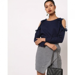The Vanca Cold-Shoulder Sweatshirt with Lace Panels