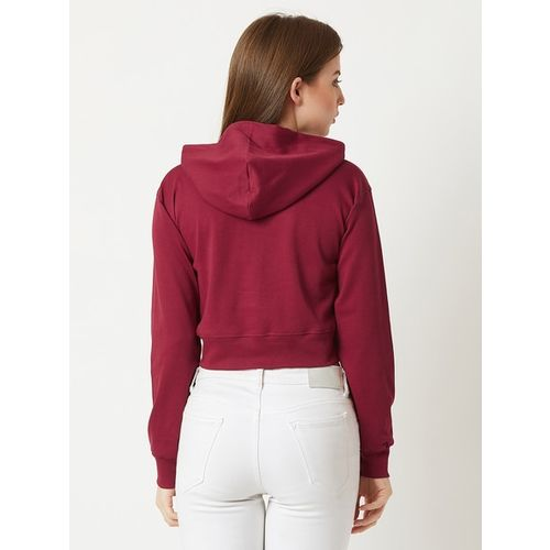 MISS CHASE Solid Hoodie