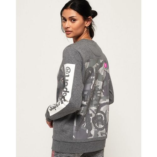 SUPERDRY Heathered Sweatshirt with Signature Branding