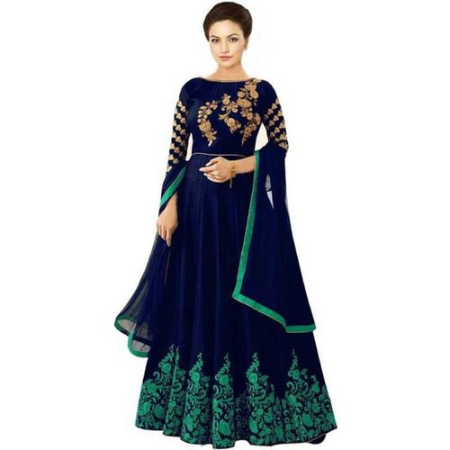 JAHAL FASHION Embroidered Semi Stitched Gown