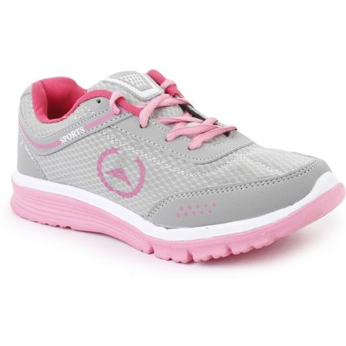 Global India Training,Walking,Gym,Sports,Running, Casuals For Women(White, Pink, Grey)