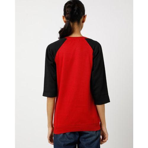 The Vanca Graphic Print Sweatshirt with Raglan Sleeves