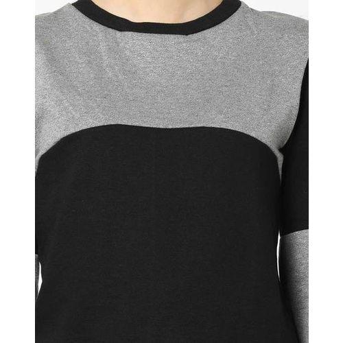 Campus Sutra Colourblock Crew-Neck Sweatshirt