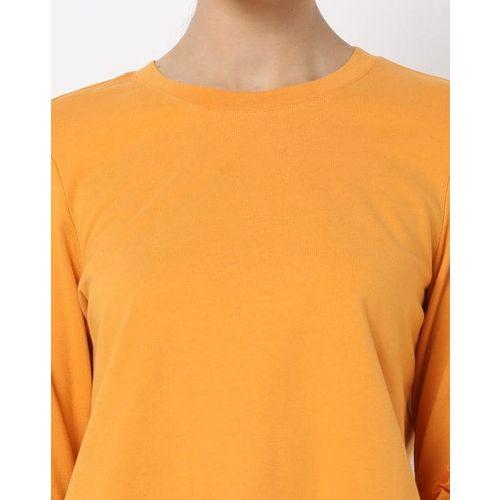 UNITED COLORS OF BENETTON Crew-Neck Sweatshirt with Ruffles
